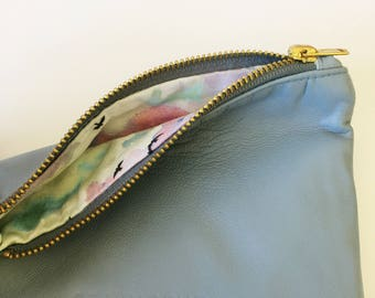 Cute blue leather Coin Purse