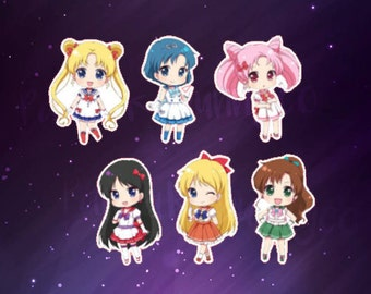 Sailor moon chibi stickers