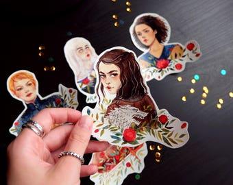 Game Of Thrones strong women Vinyl Laptop Stickers. Sicker Set of 5