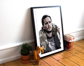 Jon Snow INSPIRED Game of Thrones inspired Art Print / Poster / Wall Art / House Stark / Game of Thrones Poster / GOT / Winter is Coming