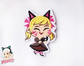 NEW! Black Cat D.VA Spray Embroidery Patch