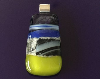 Fusion entails the merging-ornament of glass-glass pendant-necklace-gift for women-gift-birthday gift-wife glass art-hand made jewelry-art-Spectrum glass