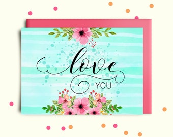 valentines day card printable valentines card for him love card valentines day card husband valentines card mum love you card digital print