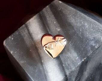 E.T. Phone home Heart Metal Pin - Memorabilia - Gold coloured
