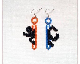 "Earrings ""Gamer Collection"" portal / hama beads / pixel"