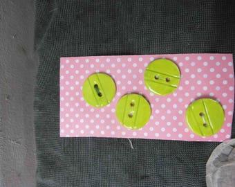 4 round ceramic buttons