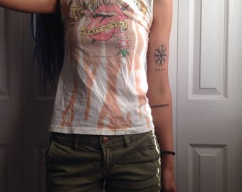 Tie Dyed Rolling Stones, Tattoo You tank (M)