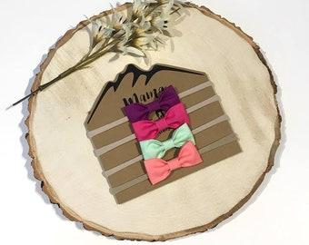 Summer Basics Bundle - Plum, Pink, Mint and Coral \ Nude Baby Headband,Nylon Headband,Thin Baby Headband,Hair Bow,Hair Clip