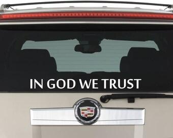 In God We Trust Car Window Laptop Decal Sticker