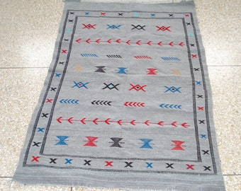 Moroccan Rug Carpet Kilim Kelim Berber Handmade Wooven Atlas Wool Authentic