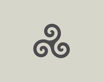 Adhesive vinyl stencil. Breton cross. Triskell (ref 124)