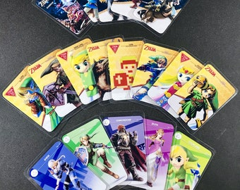 Legend of Zelda Breath of the Wild Amiibo Cards Laminated Switch Wii U Compatible
