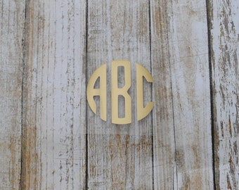 Gold Foil/Circle Monogram/Iron On/Vinyl Decal/DIY/T-Shirt/Shirt//Personalized/Monogrammed