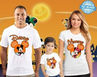 Halloween Disney Family Shirt, Halloween disney Custom Shirt, Personalized disney Shirt, disney family shirts, Birthday t-shirts