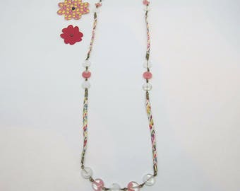 Liberty collection: multicoloured liberty necklace, white and Pink - Pearl Earrings available