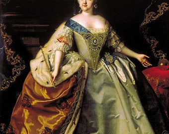 Digital Image of Original Oil on Canvas Painting Empress Elizabeth of Russia 1750 P2