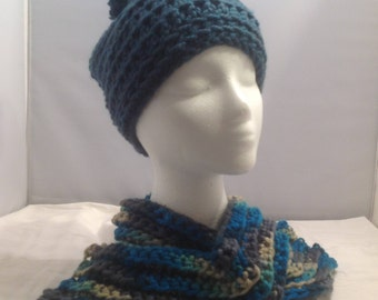 Slouchy Hat and Scarf Set
