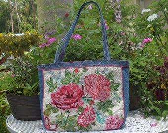 Rose Embroidery Handbag