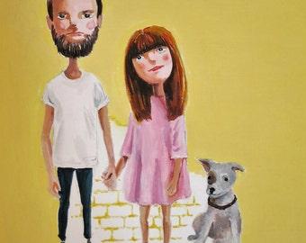 Custom Portrait Illustration with your Pet by EkakiElly