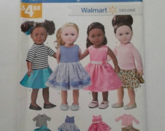 Simplicity W0153 Fits American Girls & other 18 inch dolls