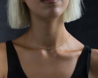 Minimalist Jewelry - Choker Necklace Chain - Layered Necklace - Layering Necklace - Chain Necklace - Necklace - Chain Choker - Gold Chain