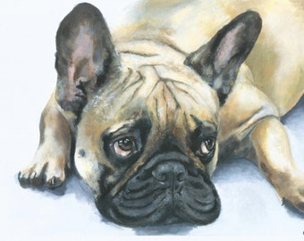 Faithfully Waiting - PRINT, French Bulldog
