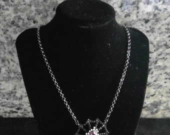 SALE!!!Halloween Spider Web Necklace