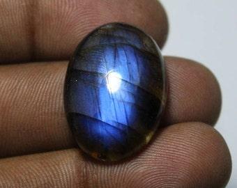 Natural Labradorite Cabochon, Dark Blue Labradorite Gemstone, Labradorite loose stone, Spectrolite Labradorite loose gemstone [24x17]#232