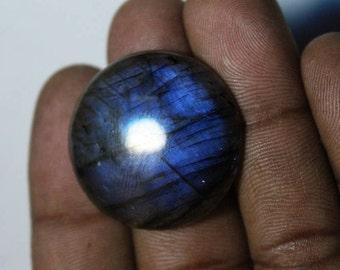 Natural Labradorite Cabochon, Dark Blue Labradorite Gemstone, Labradorite loose stone, Spectrolite Labradorite loose gemstone [27x27]#239