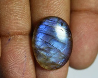 Natural Blue labradorite Loose Stone13Ct(22X16mm)#453
