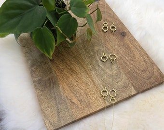 rhinestone links necklace   womens