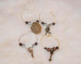Walking Dead Wine Charms
