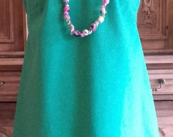 TRAPEZE dress and NECKLACE