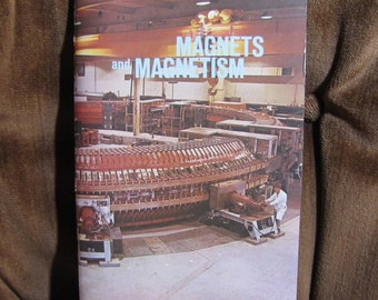 "Vintage ""Magnets and Magnetism"" Booklet by Nelson Doubleday and the Science Service Program copyright 1967 - All Stickers Unused!"