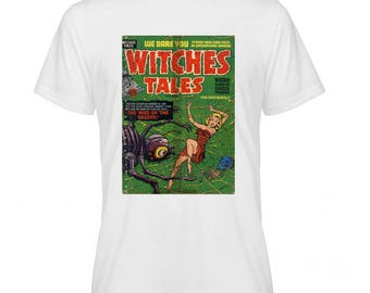 Witches Tales Retro Comic Book Cover Tshirt