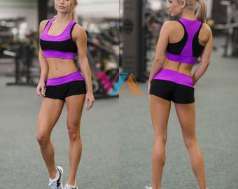 Pole Dance Top & Shorts 2pc VIA STRONG for Pole Dance | Gym | Yoga | Fitness | Dance | Booty | Sportswear | Activewear | Outfit | Twerk