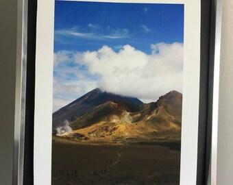 Ngauruhoe: a4 giclee art print. Limted edition, photography. New Zealand. Doom mountain.