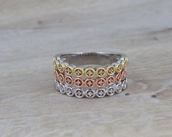 Sterling Silver and .1 ctw Diamond Ring