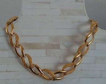 """Napier / 18"""" Necklace / Gold Tone Chain Vintage Necklace"""