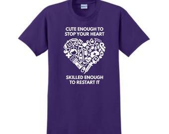 NURSES T-SHIRT, Custom T-Shirt,  Nurse Gifts, Personalized T-Shirt, Custom Tees, Nurse Appreciation, Registered Nurse, Nursing Assistant