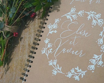 A4 size custom guestbook