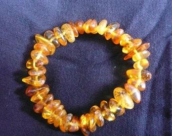 Amber Bracelet on elastic