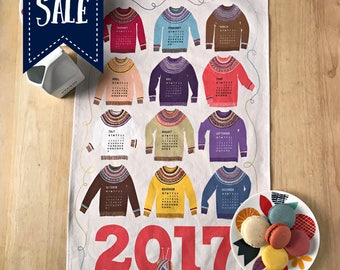 2017 Woolly Sweater KniTea Towel Calendar