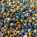 Assorted Beads, Picasso Seed Beads, Czech Matubo Beads, 7/0 (20g) #1BM