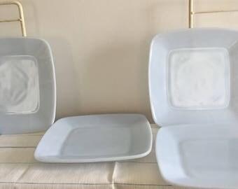 Vintage Fire King Charm 2 Luncheon Plates FireKing Azurite