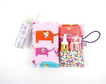 First Aid Kit - Elephant - red cross, emergency kit first aid pouch medicine bag READY TO SHIP, baby shower gift