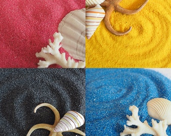 Colored Sand - Pink, Black, Blue or Yellow - 6oz Bag