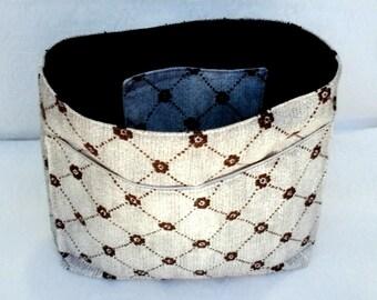Handbag Organizer, Purse Pockets, Insert Divider for Tote Bag, Purse Inserts, Fabric Bag Organizer Pockets, Project Organizer, Handmade Gift