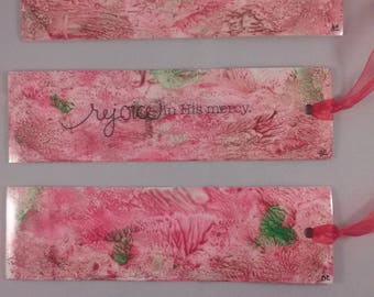 Trio of Original Painted Laminated Bookmarks on Yupo Paper