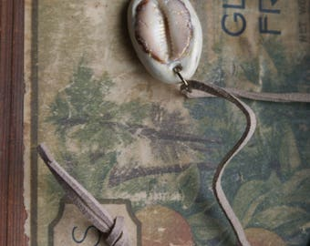 Hawaiian Handmade Punani Shell and Clay Necklace OOAK